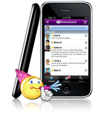 Yahoo! Messenger for iPhone – Chat trên iPhone IphoneY_l