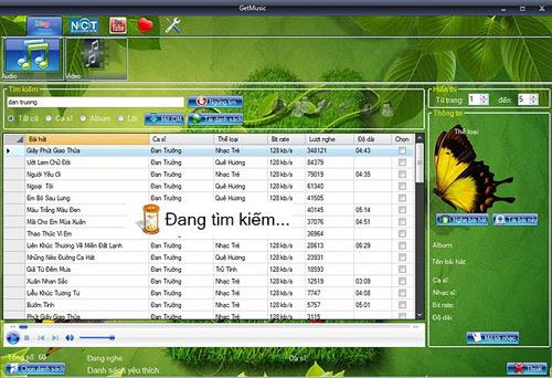 GetMusic - Phần mềm nghe nhạc và xem video trực tuyến từ Zing, NhacCuaTui, YouTube 11-GetMusic-1