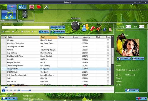 GetMusic - Phần mềm nghe nhạc và xem video trực tuyến từ Zing, NhacCuaTui, YouTube 11-GetMusic-2