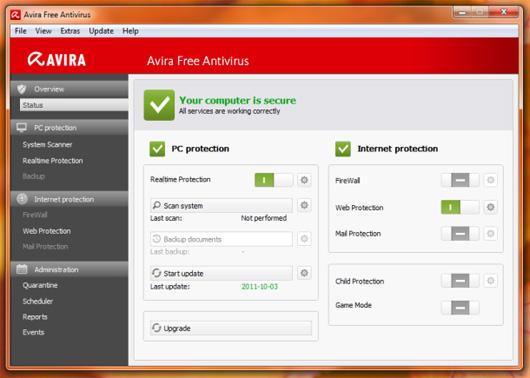 avira antivir personal free antivirus 10