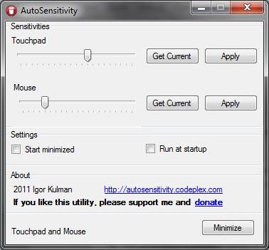 AutoSensitivity – Công cụ giúp laptop kiểm soát độ nhạy của touchpad và chuột
