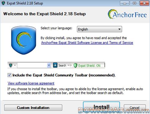 Expat Shield – bảo vệ tính riêng tư khi Online