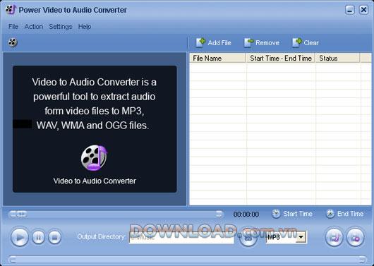 Power Video to Audio Converter