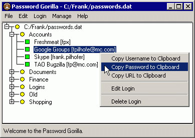 Password Gorilla 64-bit 1.5.3.7 full