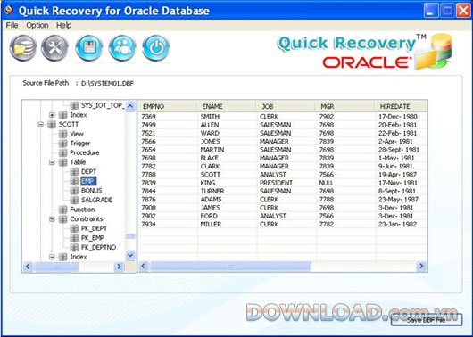 Quick Recovery for Oracle Database