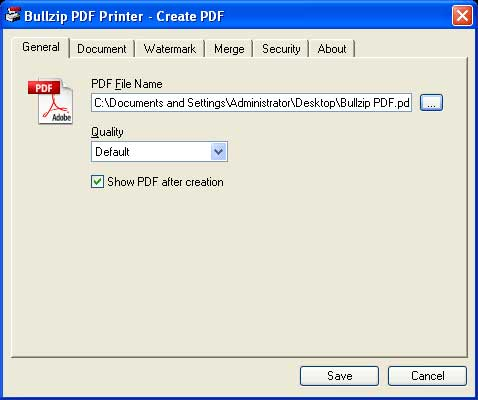 BullzipPDF500 BullZip PDF Printer   Máy in PDF